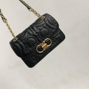 Ferragamo new large GANCINI quilted flap bag 21H168