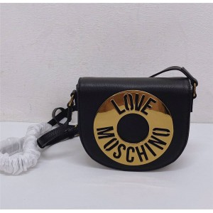 Moschino new love lychee grain leather crossbody piggy bag