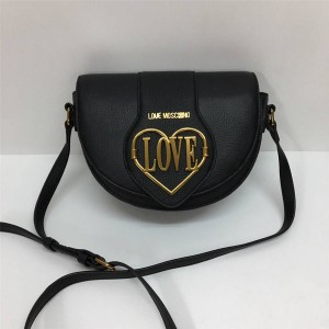 Moschino official website love pebbled leather crossbody bag