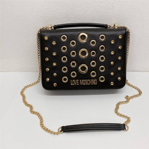 Moschino new corn love lychee pattern leather chain bag