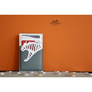 Hermes official website new leather Les Petits Chevaux card case