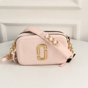 Marc Jacobs MJ pebbled leather The Softshot 27 double zipper camera bag