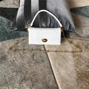 miumiu fold sheepskin new diamond handbag chain bag 5BD417