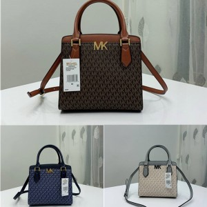 Michael Kors mk crocodile print Whitney flap chain bag