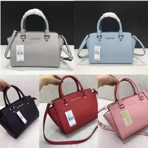 Michael Kors mk Selma medium leather shoulder bag