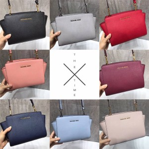 Michael Kors mk official website Selma leather crossbody bag