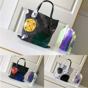 ISSEY MIYAKE new limited large dot color matching six-cell tote bag