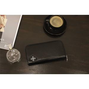 Chrome hearts ch official website cross flower dagger sword zipper Long Wallet