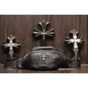 Chrome hearts ch925 Sterling Silver Cross men's and women's waist and chest bag