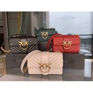 PINKO Mini LOVE BAG Sheepskin V Pattern Quilted Bird Bag Swallow Bag