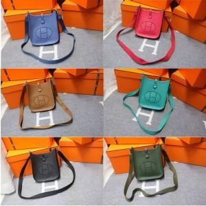 Hermes official website Epsom leather mini Evelyne crossbody bag