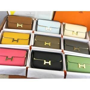 Hermes epsom leather Constance To Go Woc crossbody bag