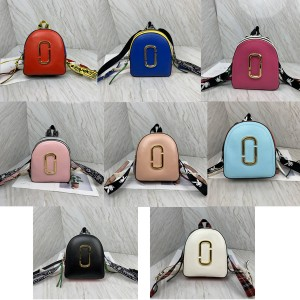 Marc Jacobs mj bag women's pack shot leather colorblock backpack