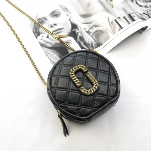 Marc Jacobs MJ Diamond Leather The Round Crossbody Bag
