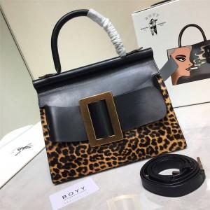 Boyy new leopard print single handle Karl 24/28 single-handle shoulder bag