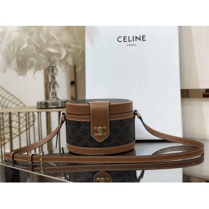 Celine TAMBOUR TRIOMPHE artificial leather medium handbag 195192