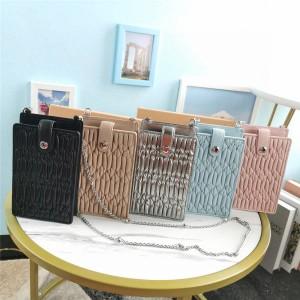 miumiu new fold lambskin mini handbag mobile phone bag 5ZH079