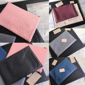 Bottega Veneta BV new woven leather zipper clutch