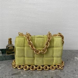 Bottega Veneta BV suede THE CHAIN CASSETTE handbag chain bag