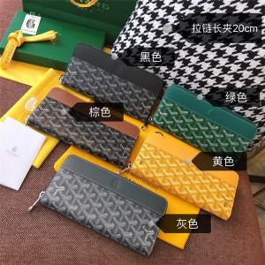 Goyard official website logo unisex long zipper wallet