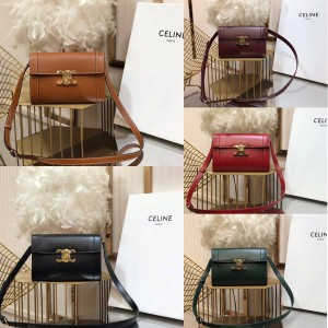 celine official website TRIOMPHE cow leather crossbody bag 195263