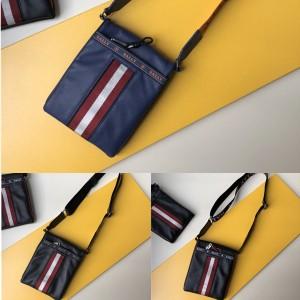 Bally men's bag HUYA leather shoulder messenger bag