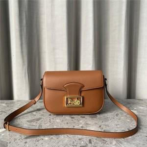 celine SULKY medium leather leather handbag 195303 caramel