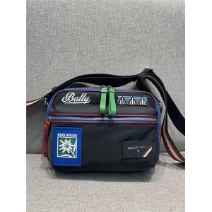 BALLY Men's Nylon Badge Fiji Reporter Bag Camera Bag