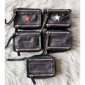 Givenchy new rivet five-pointed star sheepskin Pandora clutch