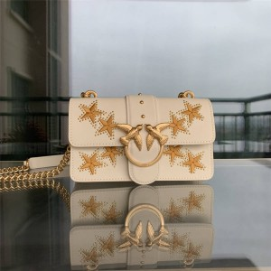 pinko new embroidered five-pointed star small bird swallow bag