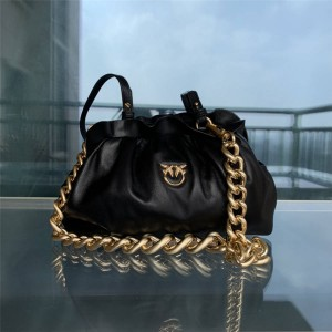 pinko pleated chain underarm bag large bird bag cloud bag 1P2237