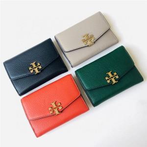 tory burch TB new leather ladies short tri-fold wallet