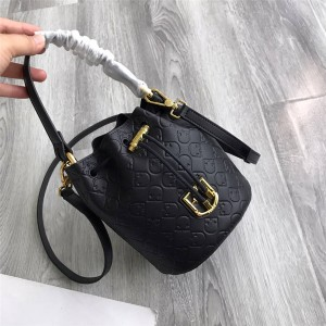 FURLA female bag CORONA embossed cowhide LOGO mini bucket bag