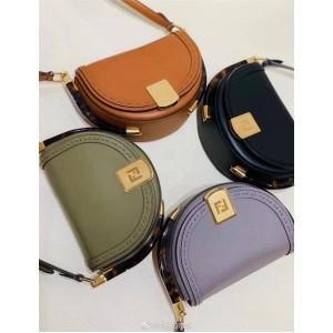 FENDI New Women's Bag Moonlight Handbag Saddle Bag 8BT346