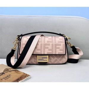 FENDI new pink BAGUETTE handbag shoulder bag