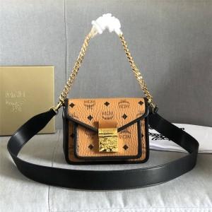 mcm handbags Patricia Visetos leather crossbody bag