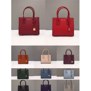 Michael Kors mk solid color small Mercer lock square bag tote bag