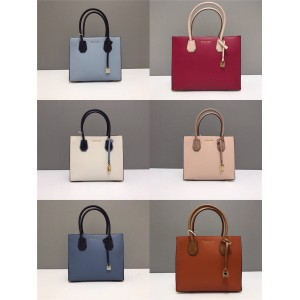 Michael Kors mk color block medium Mercer lock square bag tote bag