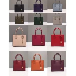 Michael Kors mk solid color medium Mercer lock square bag tote bag