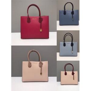 Michael Kors mk color block large Mercer lock square bag tote bag