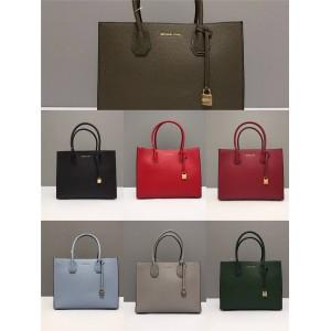 Michael Kors mk solid color large Mercer lock square bag tote bag