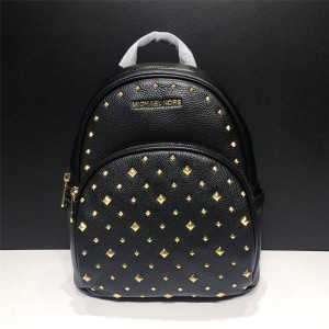 Michael Kors mk medium abbey backpack in leather with studs