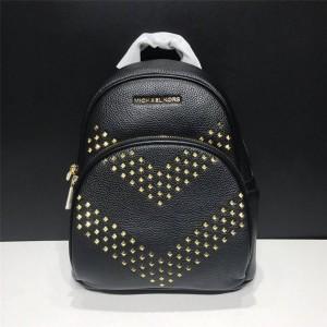 Michael Kors mk leather V-shaped rivet abbey women's backpack