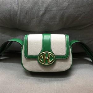 Michael Kors mk official website canvas and leather saddle bag messenger bag