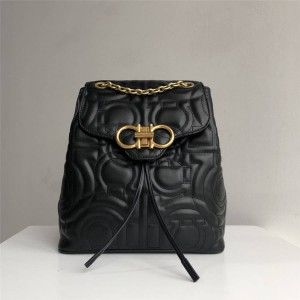 Ferragamo ladies new quilted calf leather GANCINI backpack 21H158