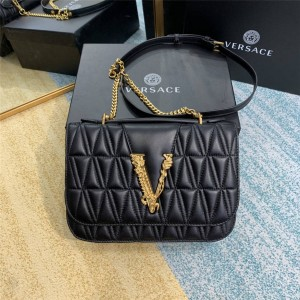 Versace handbags new sheepskin VIRTUS quilted shoulder bag