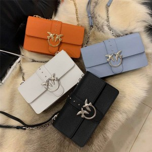 Pinko new color litchi grain leather chain bag bird swallow bag
