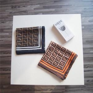 FENDI classic small double FF LOGO square scarf