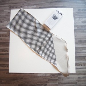 Celine official website thin twill silk long scarf