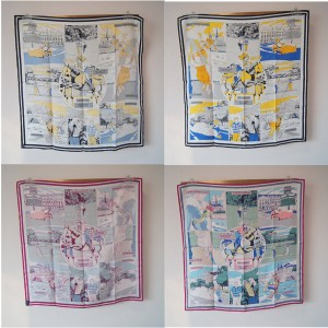 Hermes new silk scarf WOW90 cm double-sided square scarf